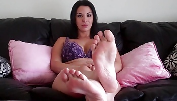 Ready to swallow your load for me  look at my amazing feet and charming suckable toes while you stroke that dick. Look at my amazing feet and elegant suckable toes while you stroke that cock